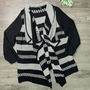 TORRID | sz 3X Stripe Draped Open Cardigan